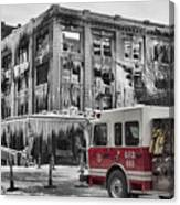 Pride, Commitment, And Service -after The Fire Canvas Print