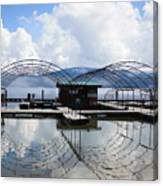 Priest Lake Boat Dock Reflection Canvas Print