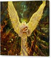 Priestess Of The Woods-angel Tarot Card Canvas Print