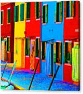Primary Colors Of Burano Canvas Print