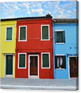 Primary Colors Too Burano Italy Canvas Print