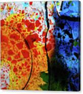 Primary Crystal Abstract Canvas Print