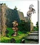 Primitive Statues Canvas Print