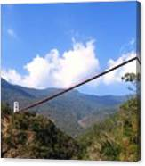 Primitive Suspension Bridge Canvas Print