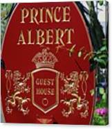 Prince Albert Guest House Sign Provincetown Canvas Print