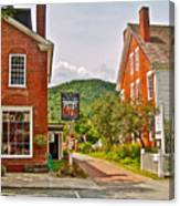 Prince And The Pauper Restaurant In Woodstock-vermont  Canvas Print