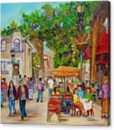Prince Arthur Restaurants Montreal Canvas Print