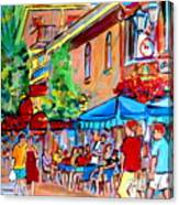 Prince Arthur Street Summer Canvas Print