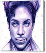 Prince Purple Watercolor Canvas Print