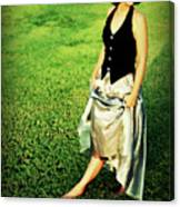 Princess Along The Grass Canvas Print