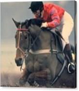 Princess Anne Riding Cnoc Na Cuille At Kempten Park Canvas Print
