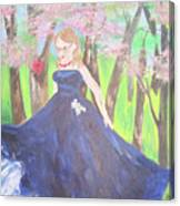 Princess In The Forest Canvas Print