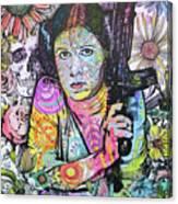 Princess Leia Flowers Canvas Print