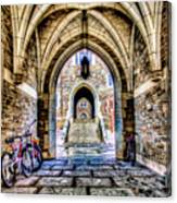 Princeton University Arches And Stairway To Education Canvas Print