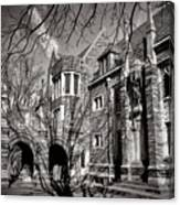 Princeton University Foulke And Henry Halls Archway Canvas Print