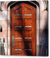 Princeton University Wood Door  Canvas Print
