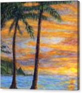 Princeville Beach Palms Canvas Print