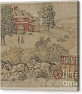 Printed Textile: Genre Scene Canvas Print
