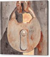 Prison Lock Canvas Print
