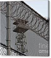 Prison Tower And Fence Canvas Print