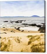 Pristine Beach Background Canvas Print
