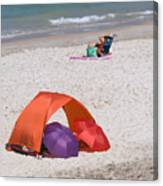 Privacy For Two At The Beach Canvas Print