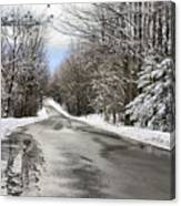 Private Country Road Canvas Print
