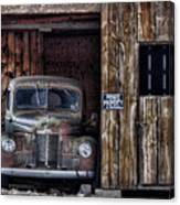 Private Parking Canvas Print