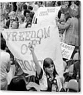 Pro-choice Rally, 1976 Canvas Print