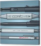Pro Pens Canvas Print