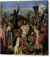 Procession Of Crusaders Around Jerusalem Canvas Print