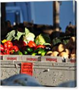 Produce Market Canvas Print