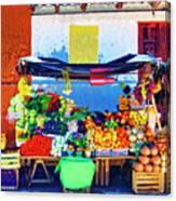 Produce Seller Canvas Print