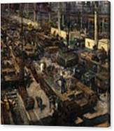 Production Of Tanks Canvas Print