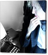 Professor In Writing  Canvas Print