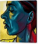 Profile In Blue Canvas Print