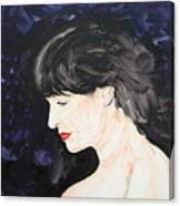 Profile In Purple Canvas Print