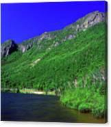 Profile Lake Franconia Notch Canvas Print