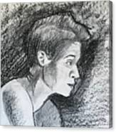 Profile Of A Black Woman Canvas Print
