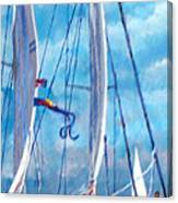 Profile Of A Sailboat Canvas Print
