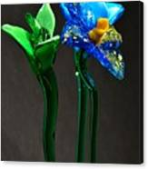 Profile Of Glass Flowers Canvas Print