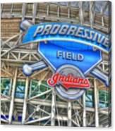 Progressive Field Canvas Print