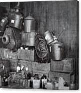 Prohibition Confiscated Stills  1920's Canvas Print