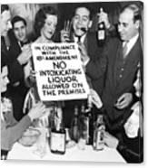 Prohibition Ends Let's Party Canvas Print