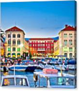 Prokurative Square In Split Evening Colorful View Canvas Print