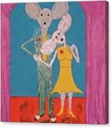 Prom Mice Canvas Print