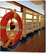Promenade Deck Canvas Print