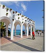Promenade In Nerja Canvas Print