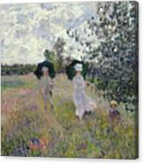 Promenade Near Argenteuil Canvas Print