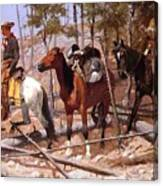 Prospecting For Cattle Range 1889 Canvas Print